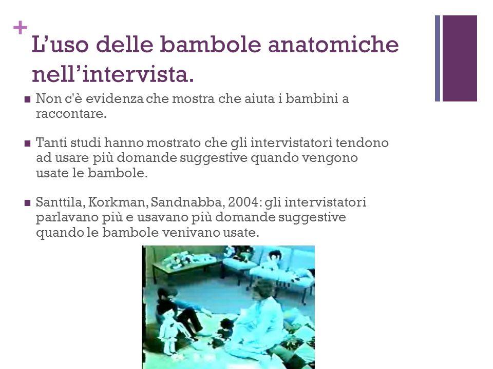 L'uso delle bambole anatomiche nell'intervista.