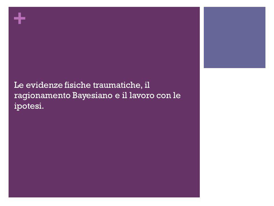 Le evidenze fisiche traumatiche, il ragionamento Bayesiano e il lavoro con le ipotesi.