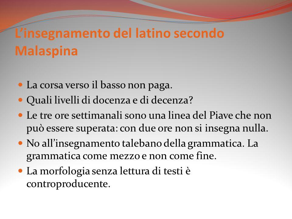 L'insegnamento del latino secondo Malaspina