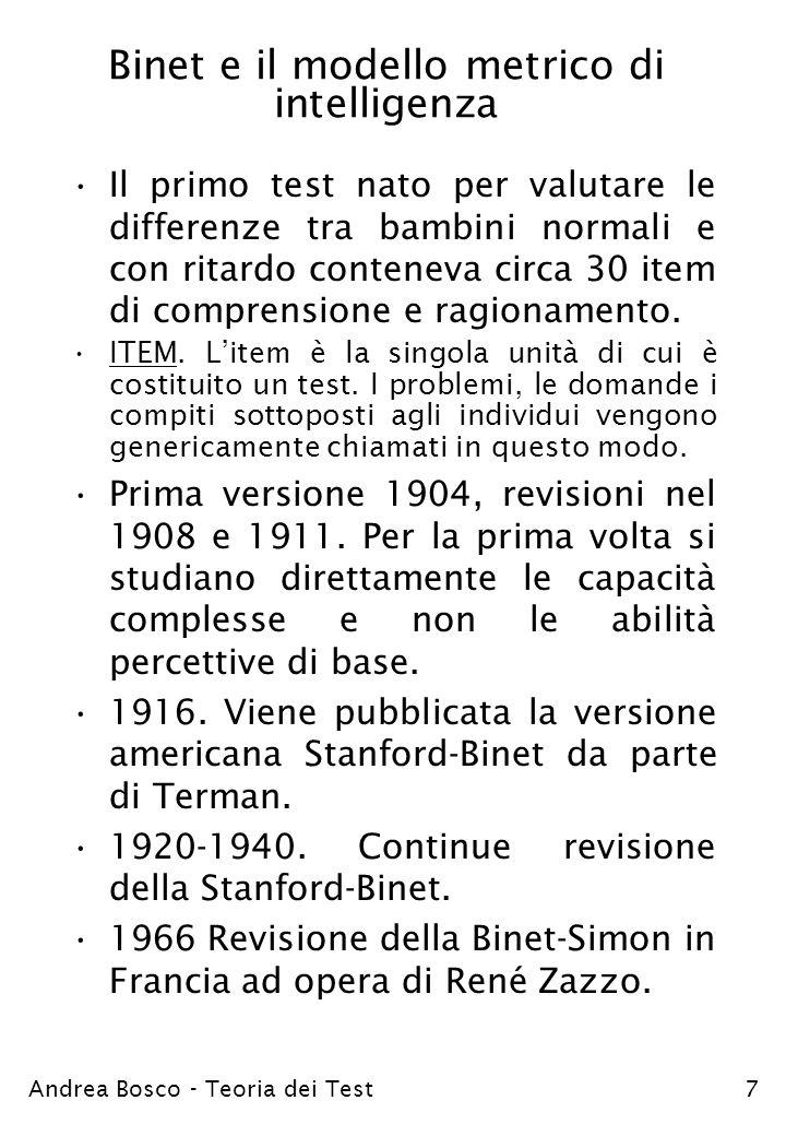 Binet e il modello metrico di intelligenza
