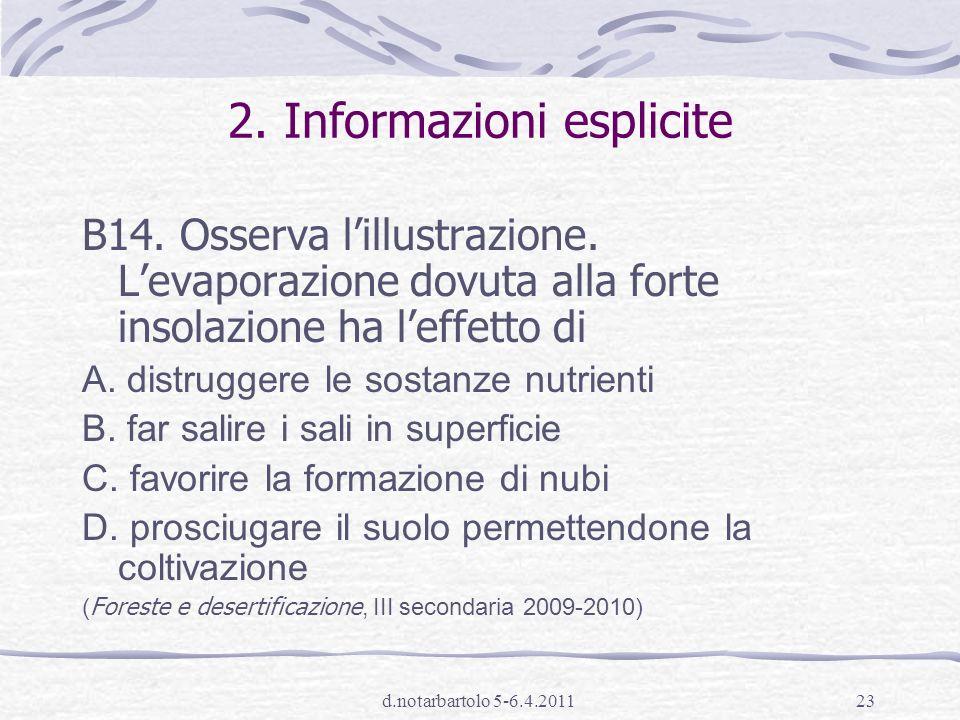 2. Informazioni esplicite