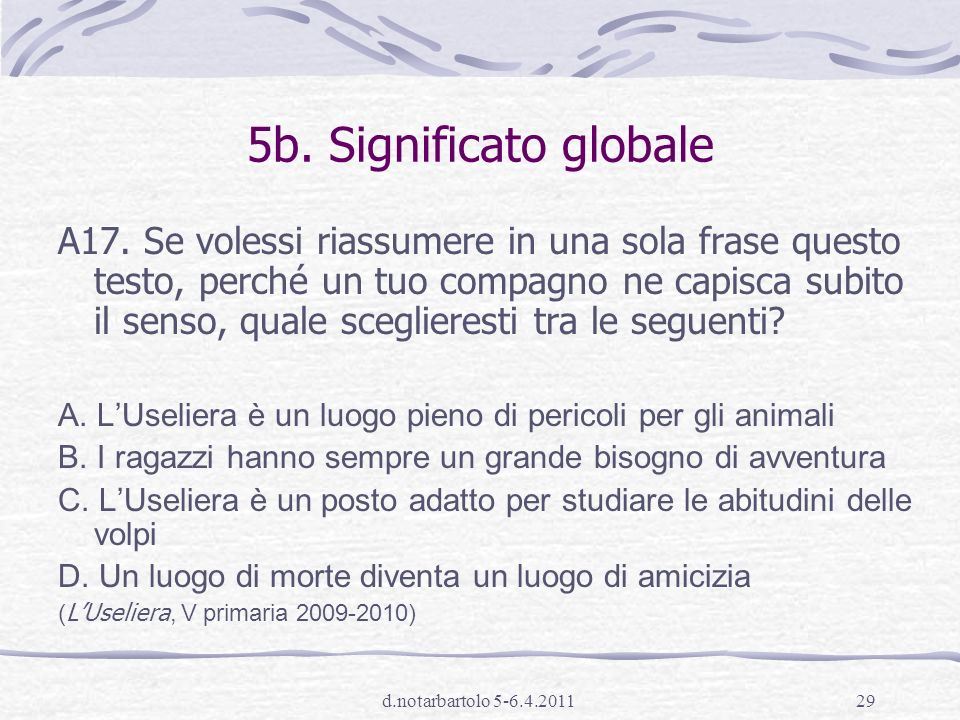 5b. Significato globale