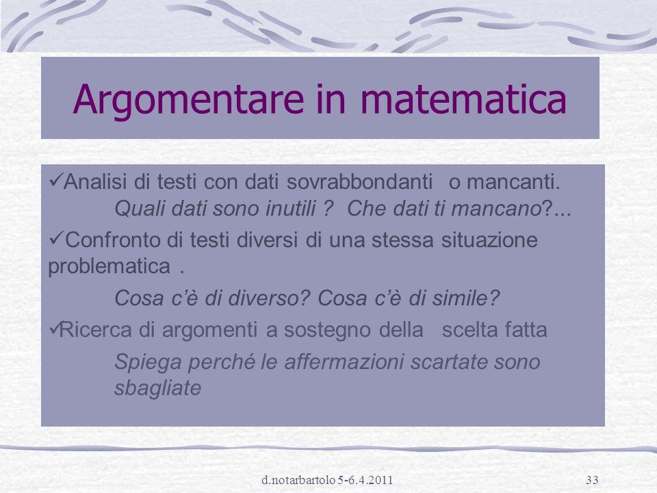 Argomentare in matematica