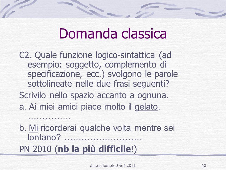 Domanda classica