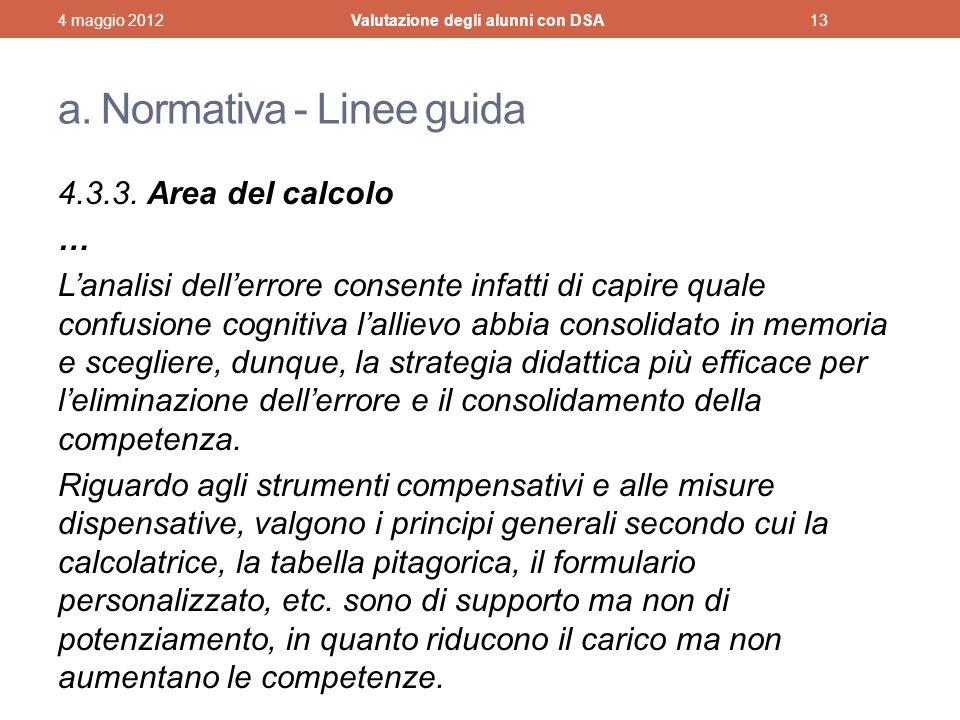 a. Normativa - Linee guida
