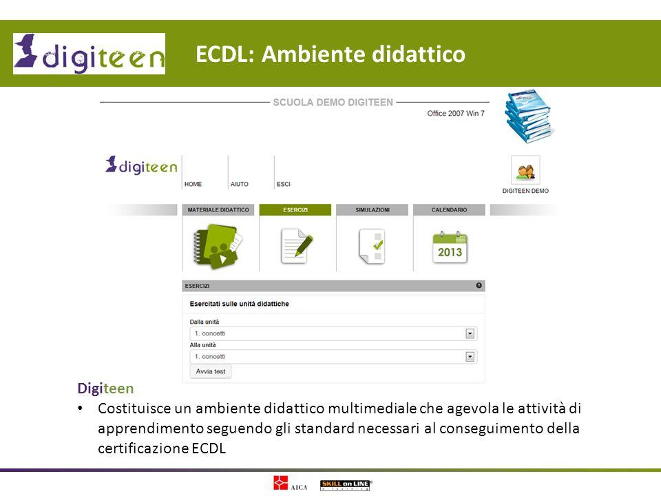 ECDL: Ambiente didattico