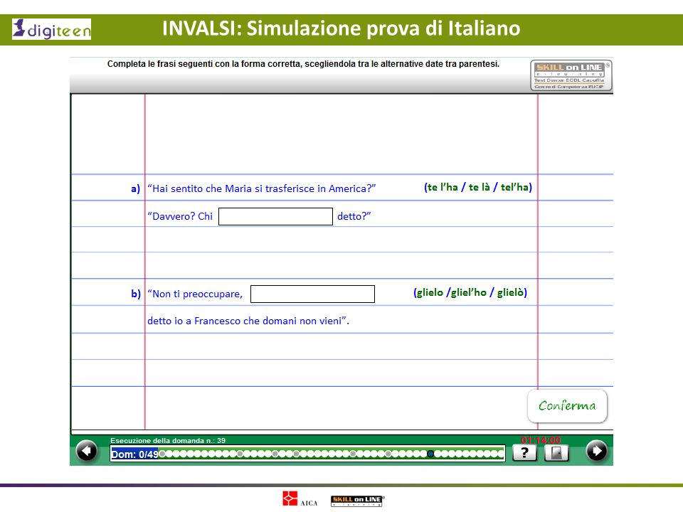 INVALSI: Simulazione prova di Italiano