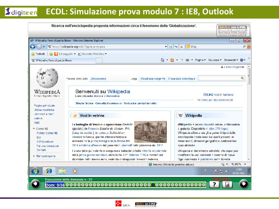 ECDL: Simulazione prova modulo 7 : IE8, Outlook