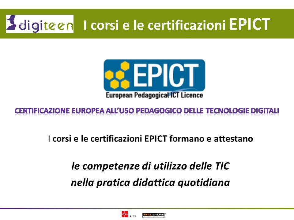 I corsi e le certificazioni EPICT