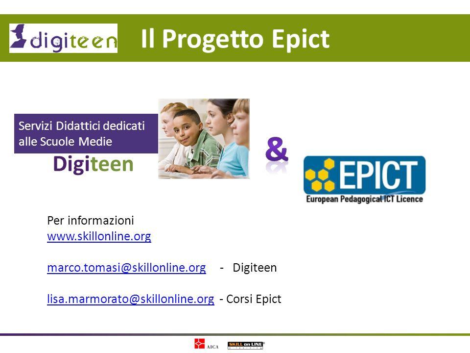 & Il Progetto Epict Digiteen