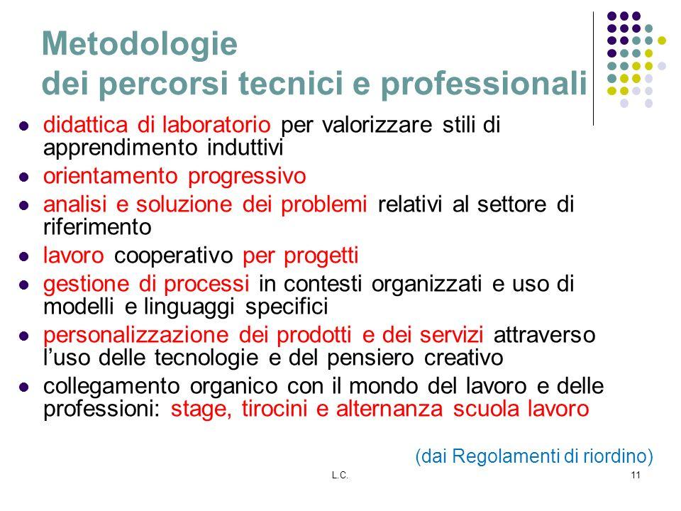 Metodologie dei percorsi tecnici e professionali