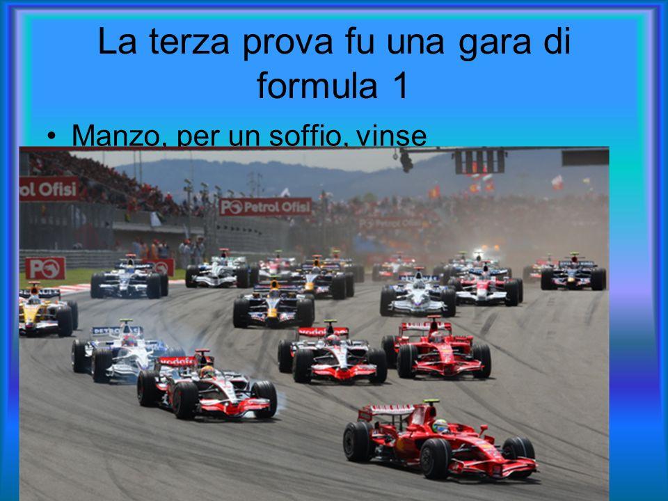 La terza prova fu una gara di formula 1