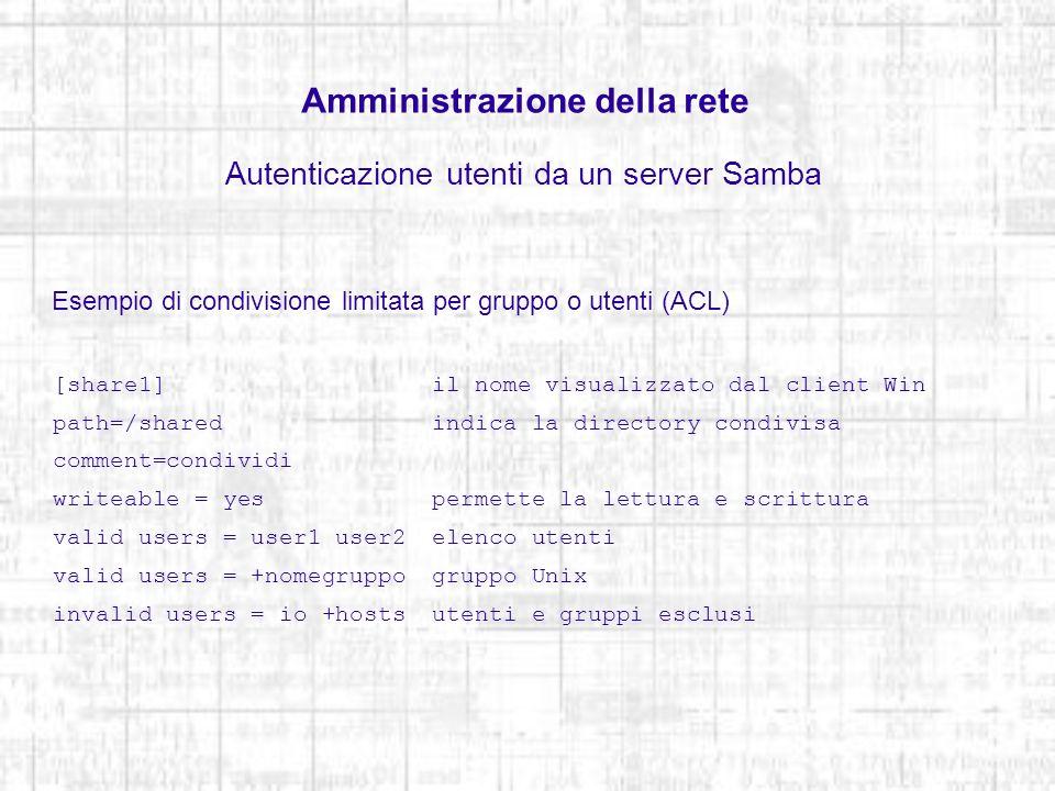 Amministrazione della rete