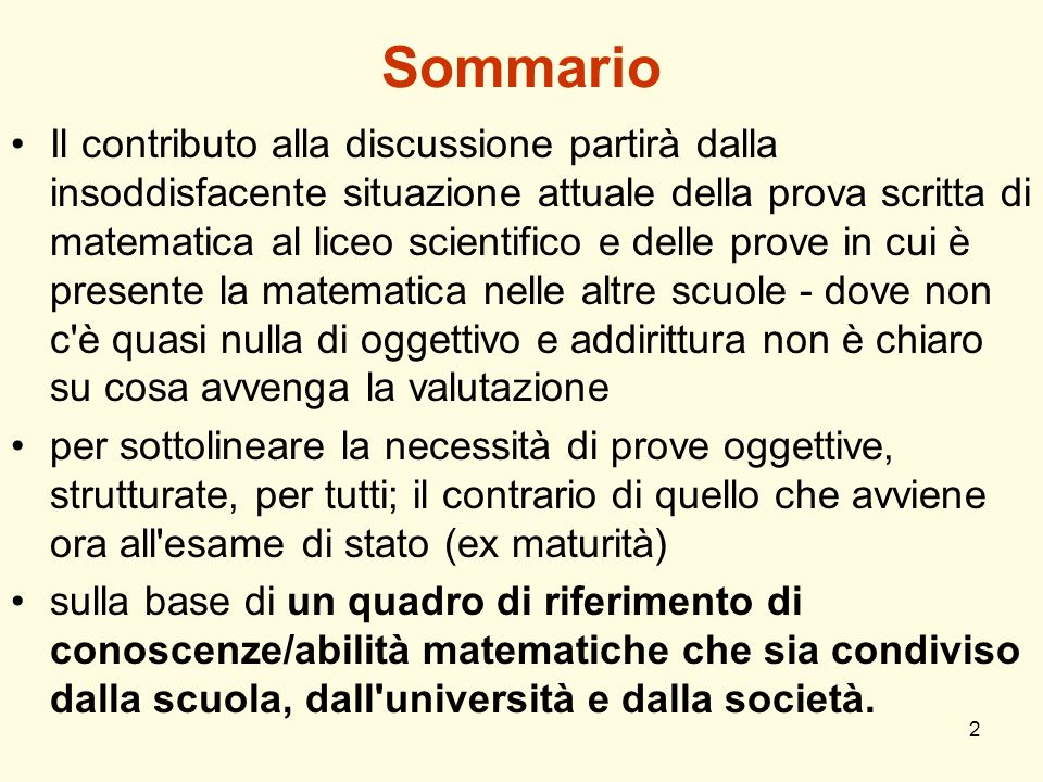 Sommario