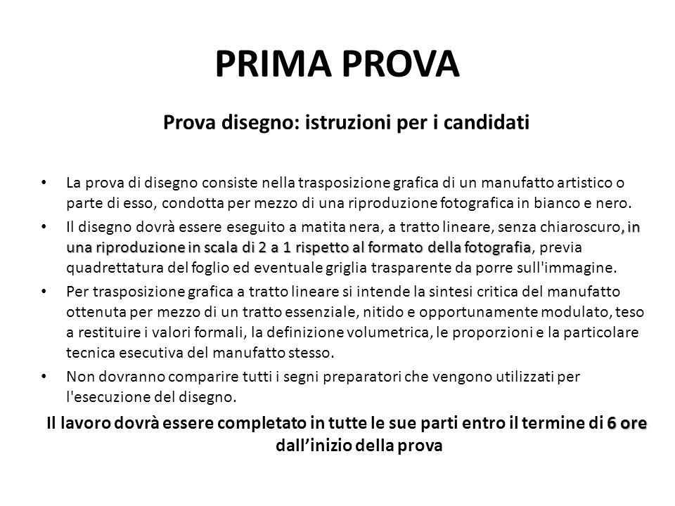Prova disegno: istruzioni per i candidati