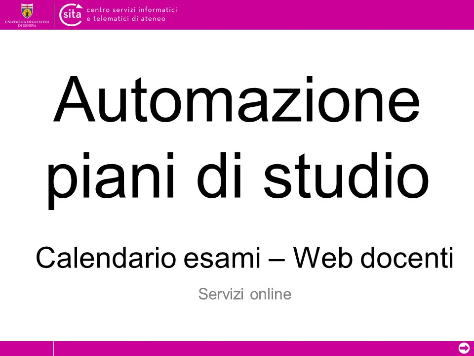 Automazione piani di studio