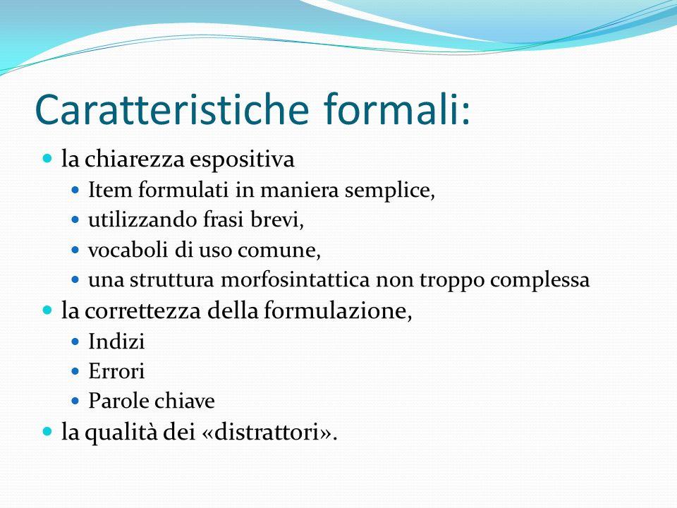 Caratteristiche formali: