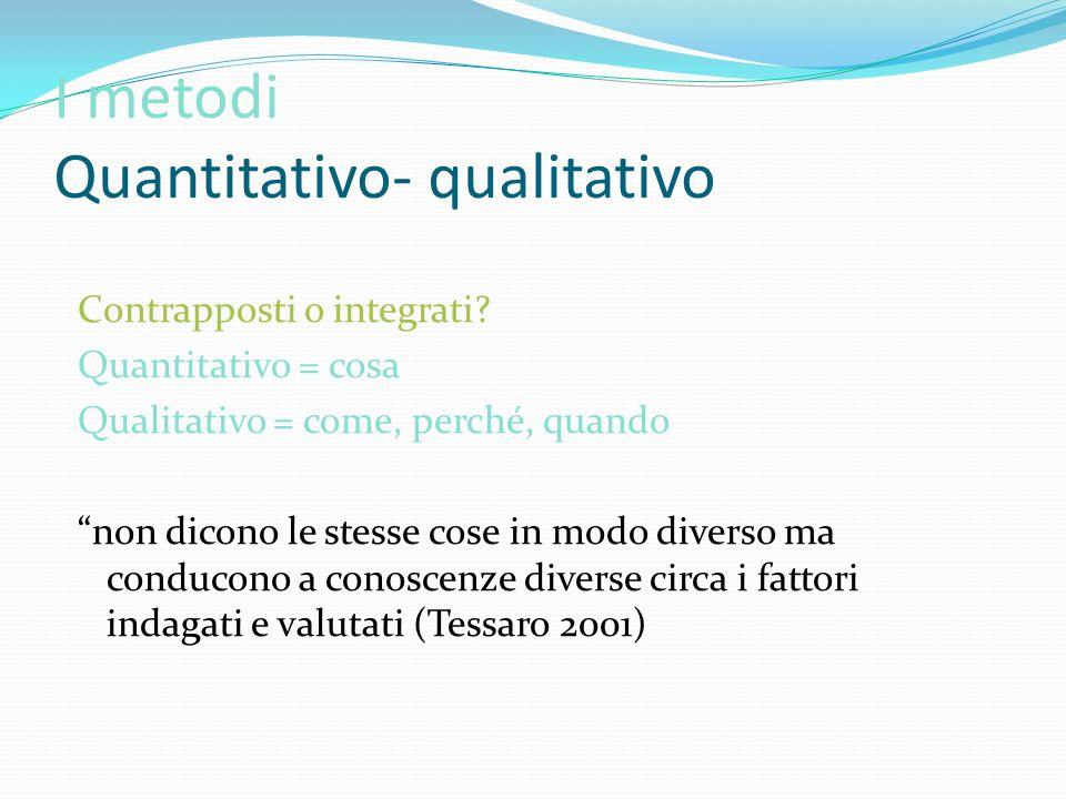 I metodi Quantitativo- qualitativo
