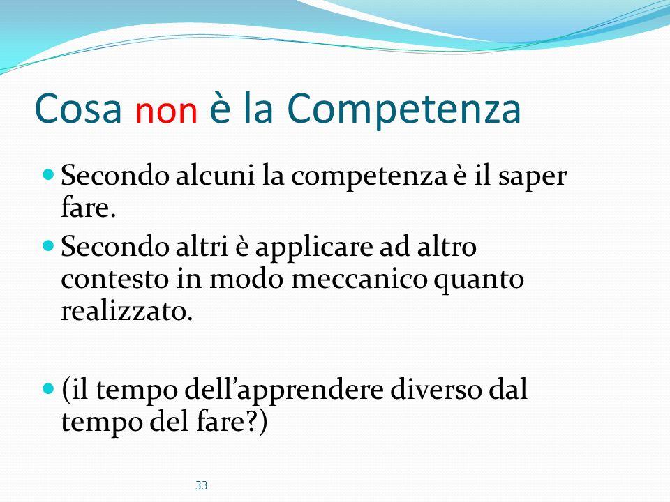 Cosa non è la Competenza