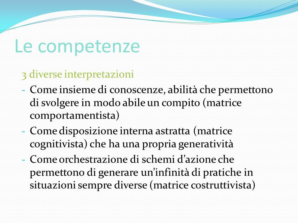 Le competenze 3 diverse interpretazioni