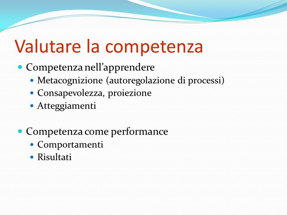 Valutare la competenza