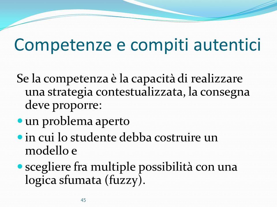 Competenze e compiti autentici