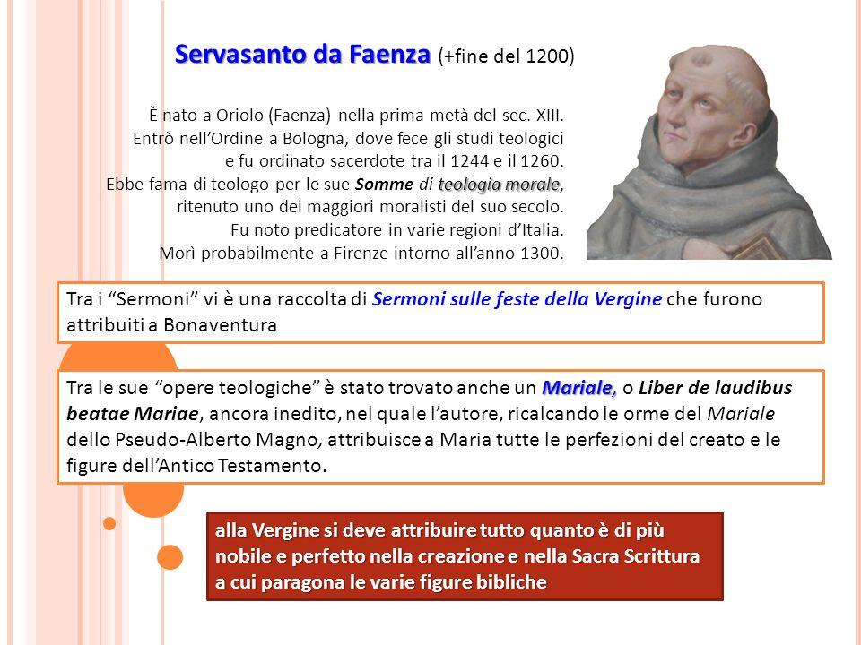 Servasanto da Faenza (+fine del 1200)