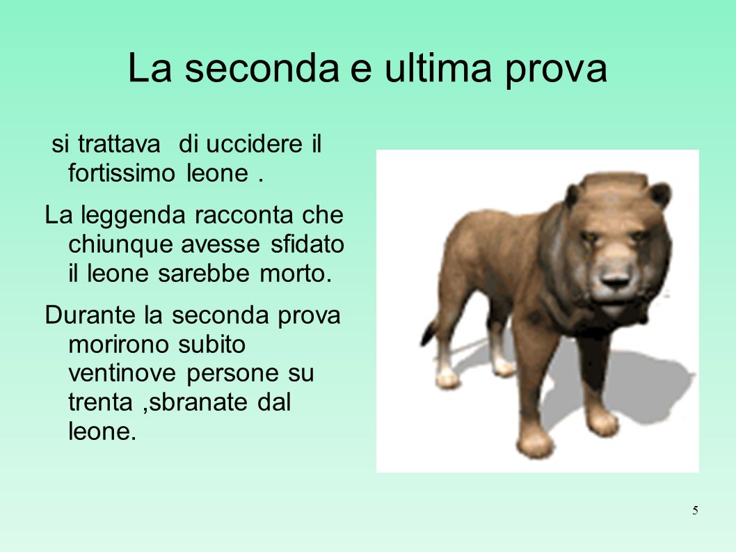 La seconda e ultima prova
