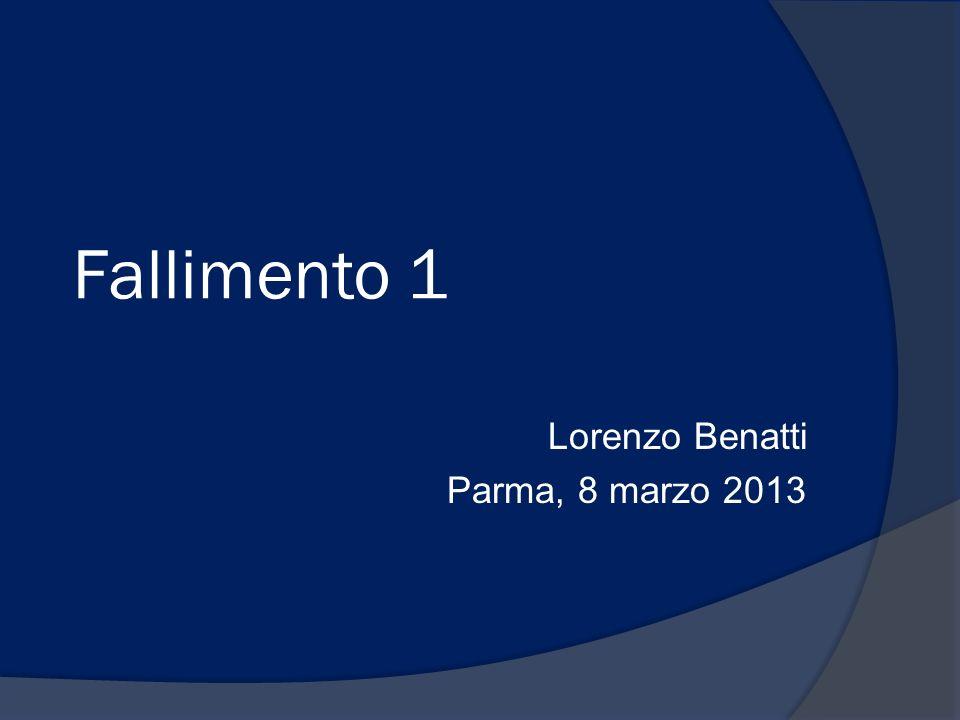Lorenzo Benatti Parma, 8 marzo 2013