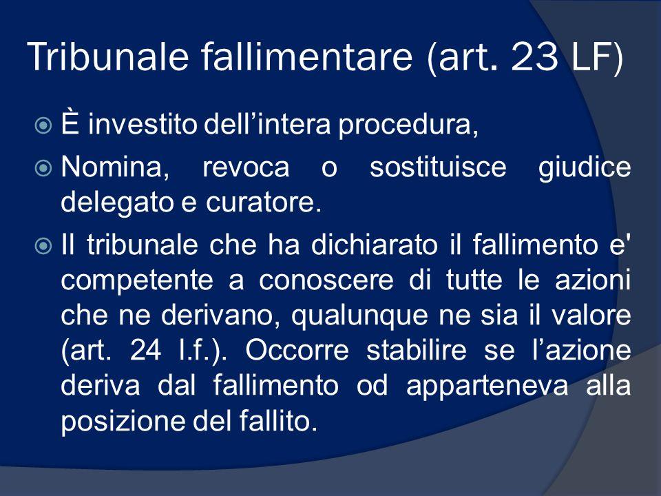 Tribunale fallimentare (art. 23 LF)
