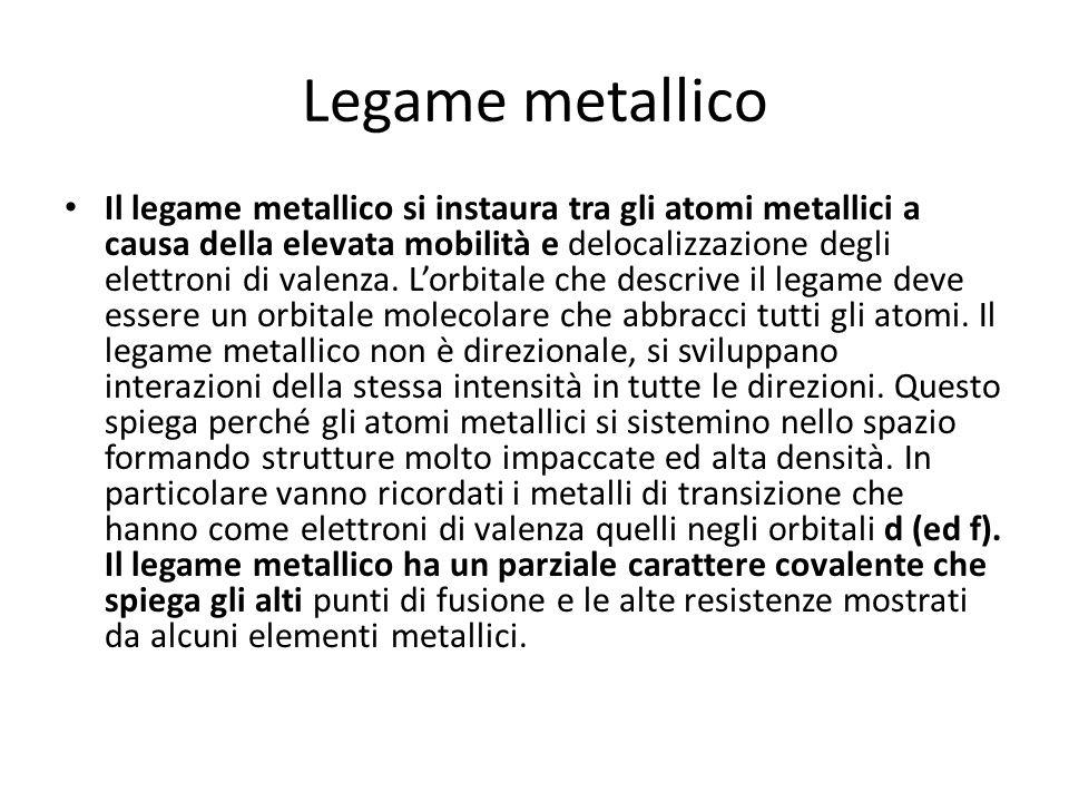 Legame metallico