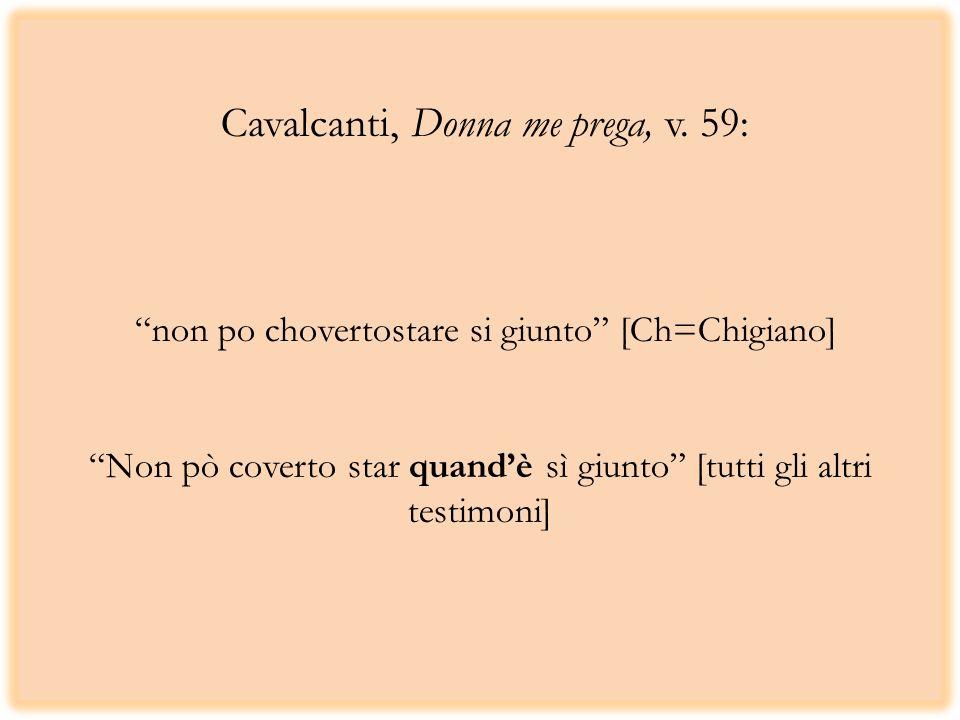 Cavalcanti, Donna me prega, v