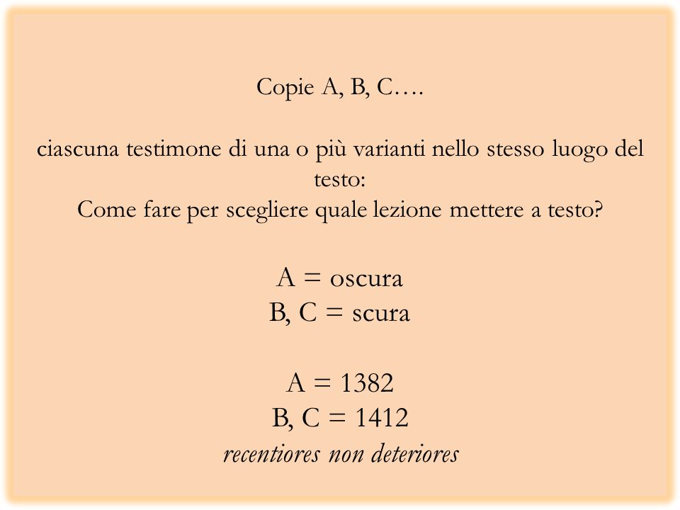 Copie A, B, C….