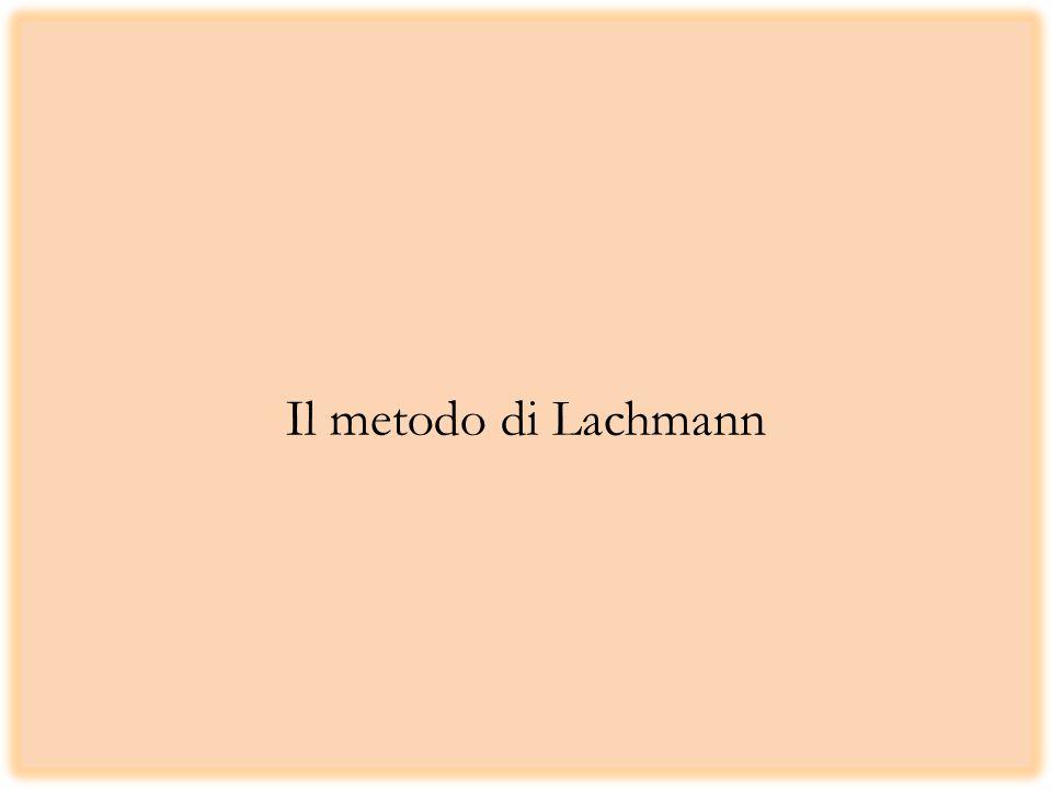 Il metodo di Lachmann