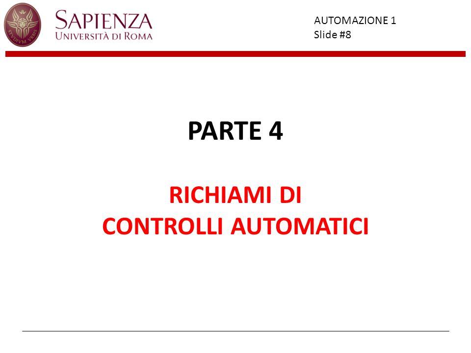PARTE 4 RICHIAMI DI CONTROLLI AUTOMATICI