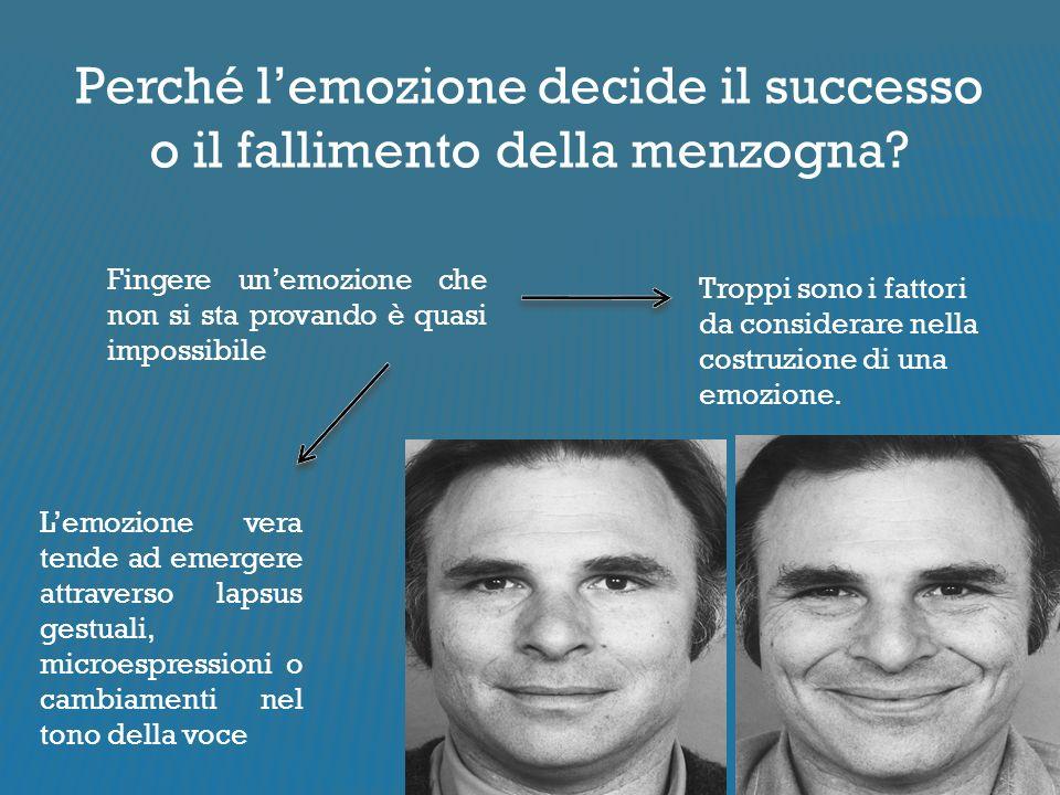 Perché l'emozione decide il successo o il fallimento della menzogna