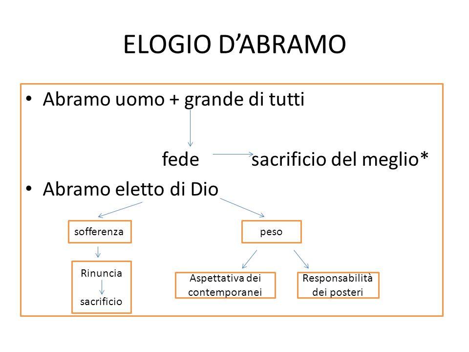 ELOGIO D'ABRAMO Abramo uomo + grande di tutti