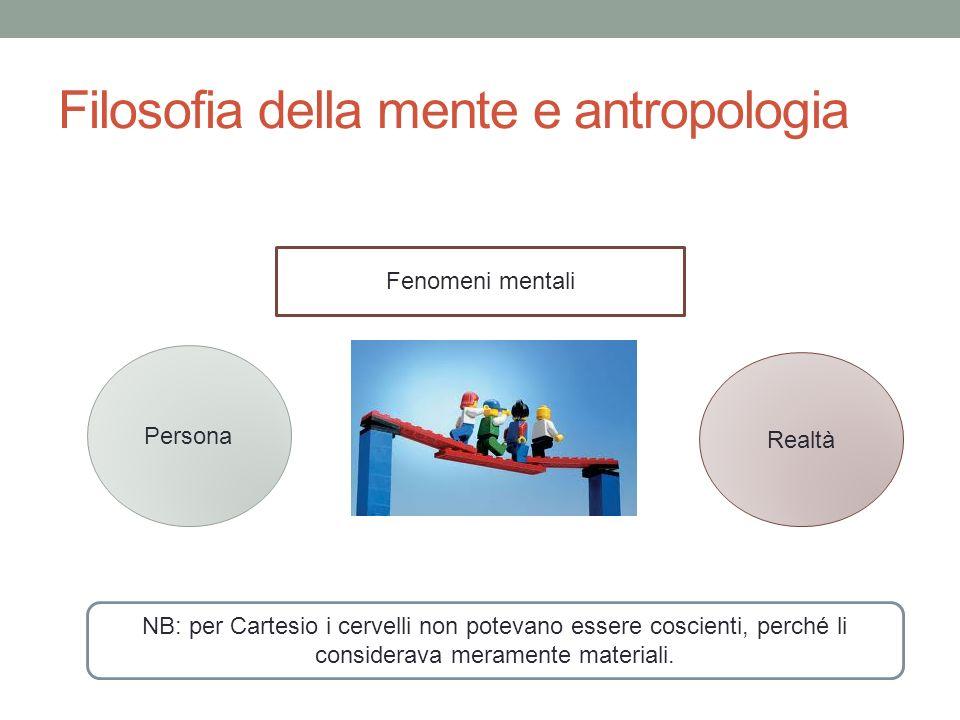 Filosofia della mente e antropologia
