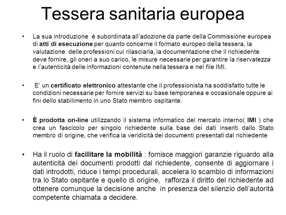 Tessera sanitaria europea