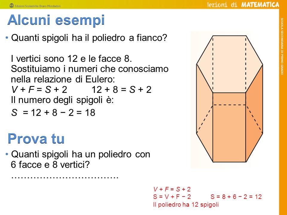 Alcuni esempi Prova tu • Quanti spigoli ha il poliedro a fianco