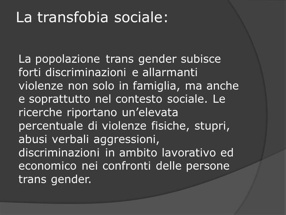 La transfobia sociale: