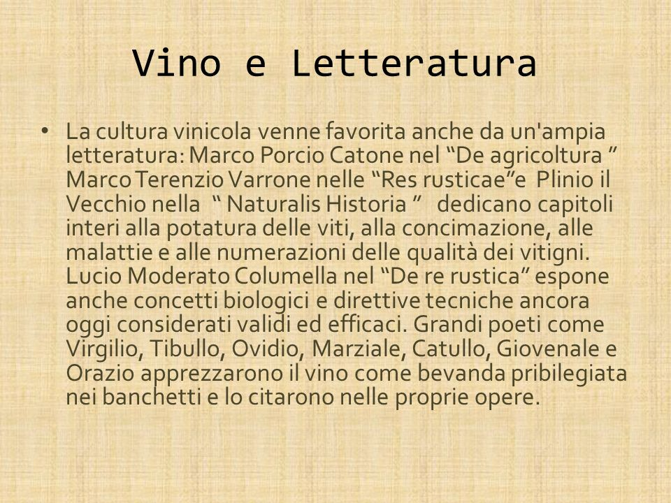 Vino e Letteratura