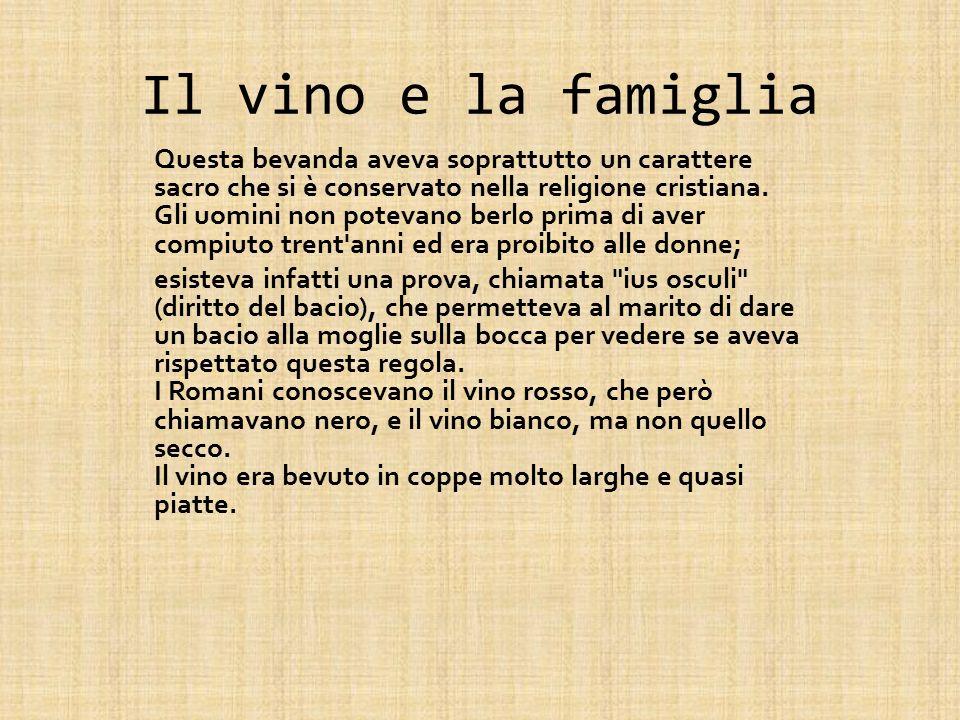 Il vino e la famiglia