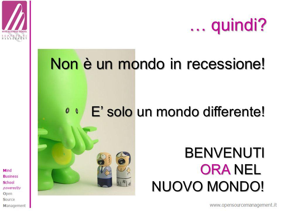 Non è un mondo in recessione!