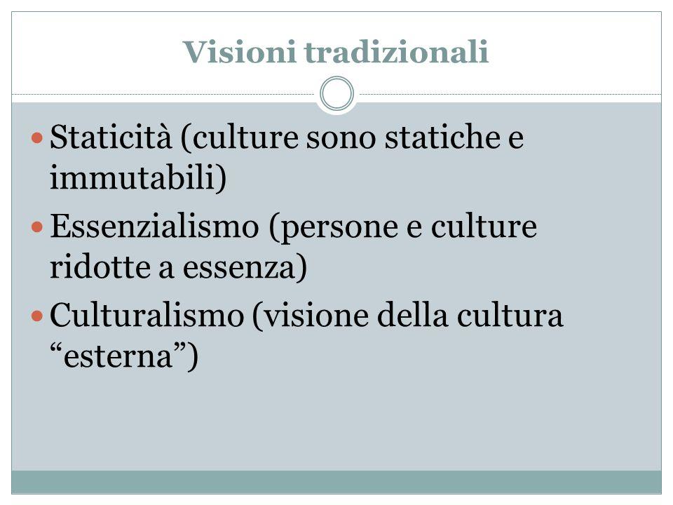 Staticità (culture sono statiche e immutabili)