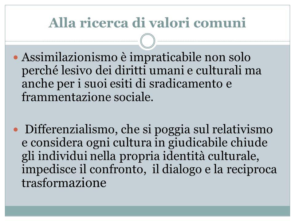 Alla ricerca di valori comuni