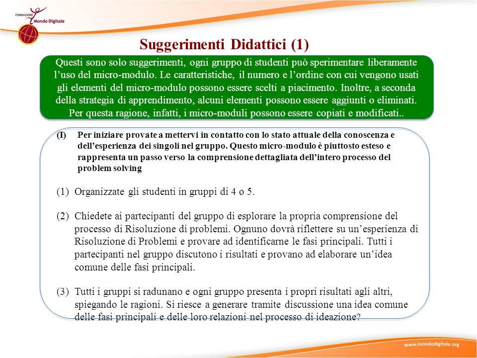 Suggerimenti Didattici (1)