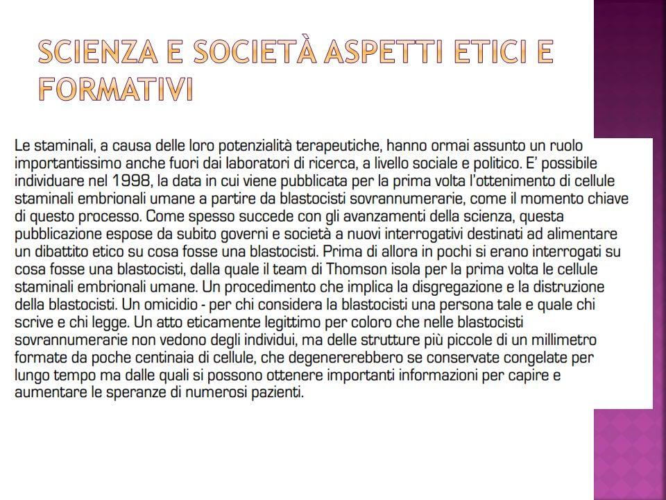 Scienza e società aspetti etici e formativi