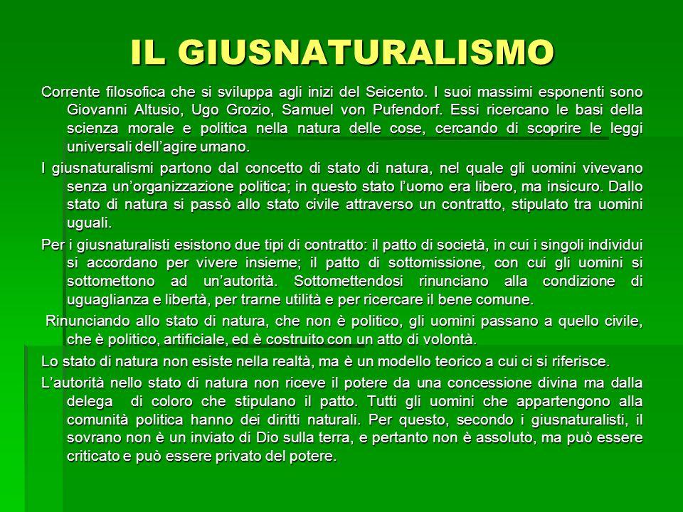 IL GIUSNATURALISMO