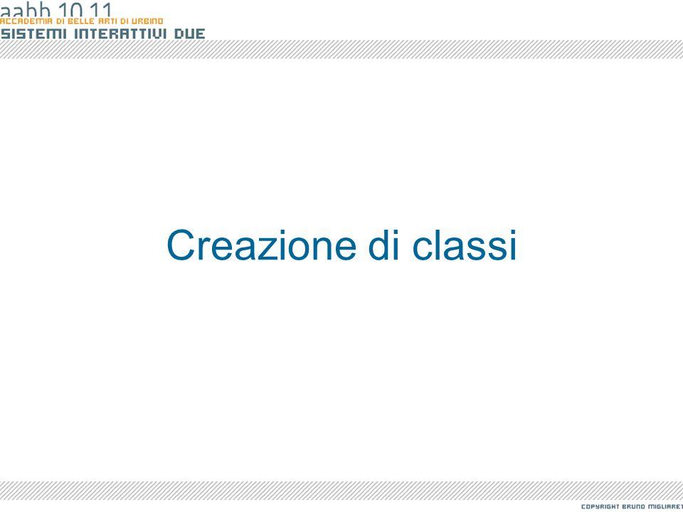 Creazione di classi